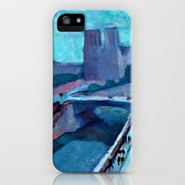A Glimpse of Notre Dame in the Late Afternoon - Digital Remastered Edition iPhone Case