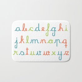 abc... rgb... Bath Mat