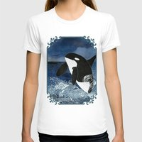 killer whale T-shirts featuring Killer Whale Orca by Aquamarine Studio