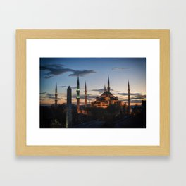 Sultan Ahmed Mosque Framed Art Print