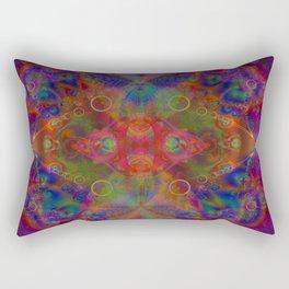 Sacred Geometry Art- Fractal Art- Abstract Art- Helix- Torus- The Eye of Tesla Rectangular Pillow