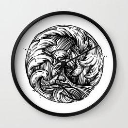 Waves Tattoo Wall Clock