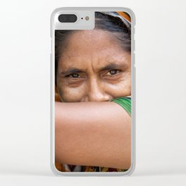 Colors of hidden smile Clear iPhone Case