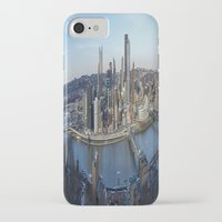 pittsburgh iPhone & iPod Cases featuring PITTSBURGH CITY by Stephanie Bosworth