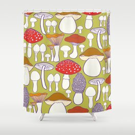 All my mushrooms Shower Curtain