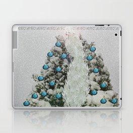 Silver Bird Snowy Tree Laptop & iPad Skin