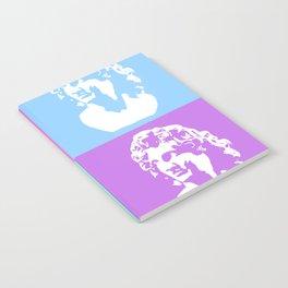 Vaporwave Aesthetic - White Notebook
