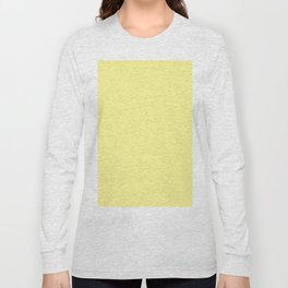 Simply Pastel Yellow Long Sleeve T-shirt