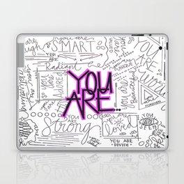 You Are - Fuchsia Laptop & iPad Skin
