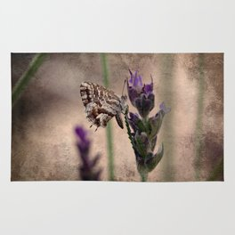 Butterfly on Lavender Rug
