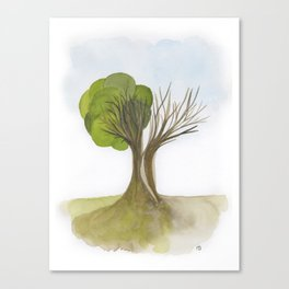Duality Tree Canvas Print