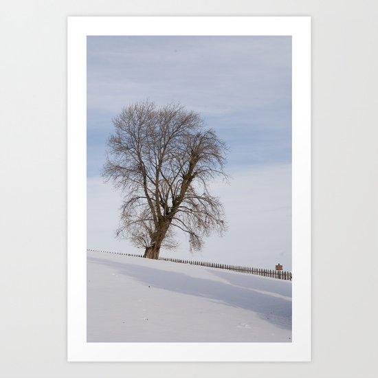 In white Art Print
