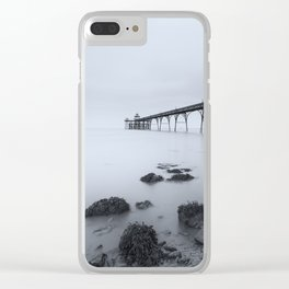 1046257 Clevedon Pier Clear iPhone Case