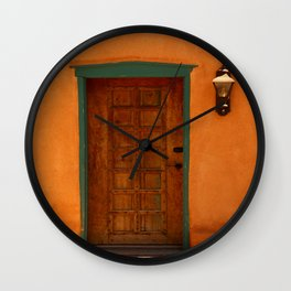 A Santa Fe  Door Wall Clock