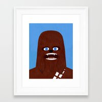 chewbacca Framed Art Prints featuring Chewbacca by Jack Teagle