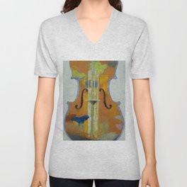 Violin Butterflies Unisex V-Neck
