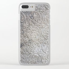 Cambodian Temple Wall Clear iPhone Case