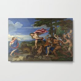 Titian's Bacchus and Ariadne Metal Print