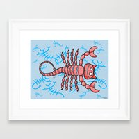 scorpio Framed Art Prints featuring Scorpio by Giuseppe Lentini