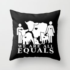 Earthlings Inverse colors Throw Pillow