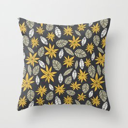 Safari floral pattern Throw Pillow