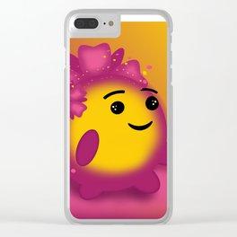 Flower power emoji Clear iPhone Case