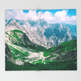 MOUNTAINS - VALLEY - PHOTOGRAPHY Throw Blanket