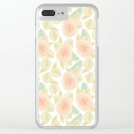 Watercolor Flower Bud Clear iPhone Case
