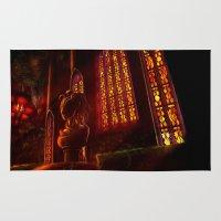 castlevania Area & Throw Rugs featuring Castlevania: Medusa's Room by FirebornForm