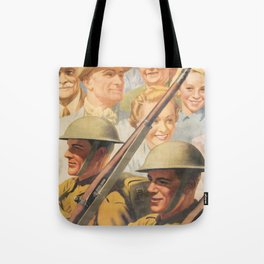 Keep on Saving. Reprint of British wartime poster. Tote Bag