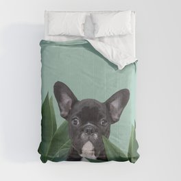 French Bulldog between agave leaves Comforters
