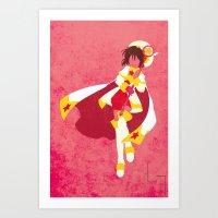 sakura Art Prints featuring Sakura by JHTY