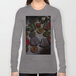 RussianMedals_Afghanistan Long Sleeve T-shirt