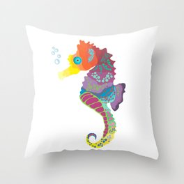 Sea me! I'm a beautiful Seahorse Throw Pillow