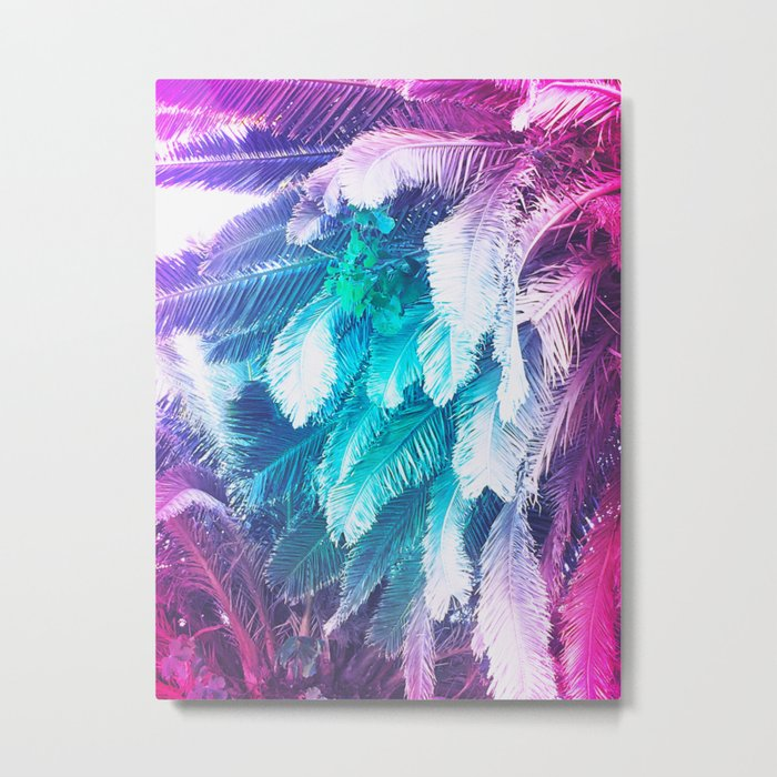 Rainbow Jungle Metal Print