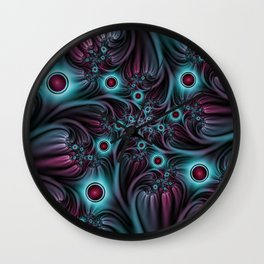 Fractal Into The Depth Wall Clock