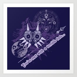 You've Met With a Terrible Fate... Art Print
