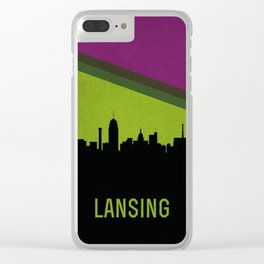 Lansing Skyline Clear iPhone Case