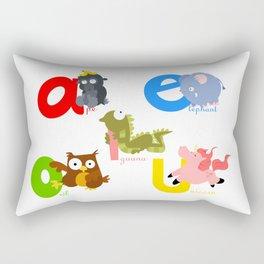 vowels Rectangular Pillow
