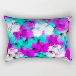 A Pretty Bed of Rose Petals Rectangular Pillow