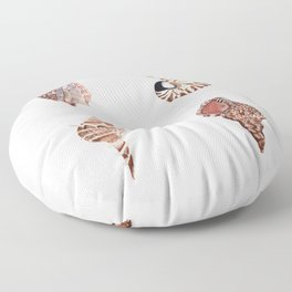4 SEASHELLS Floor Pillow