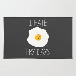 I Hate Fry-Days Rug