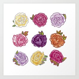 Roses for you! Art Print