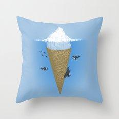 Hidden part of icebergs Throw Pillow