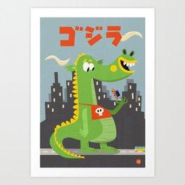 Godzilla! Art Print