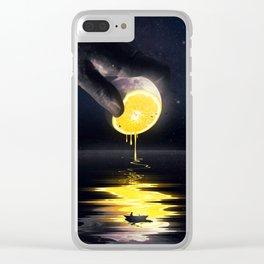 Le Moon Clear iPhone Case