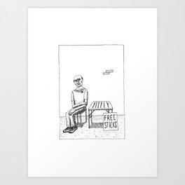 Free Sticks Art Print