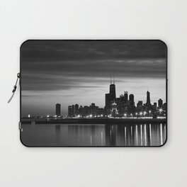 Chicago Skyline Black and White Laptop Sleeve
