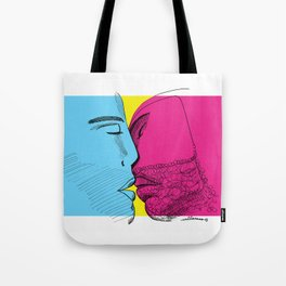 Primary kiss Tote Bag