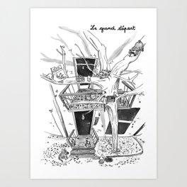 Le grand départ Art Print